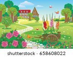 Vector Beautiful Landscaped...