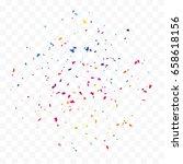 colorful explosion confetti... | Shutterstock .eps vector #658618156