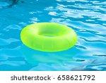 bright green float in blue... | Shutterstock . vector #658621792