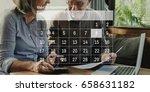 illustration of calendar...   Shutterstock . vector #658631182