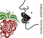 face and grape. vector...   Shutterstock .eps vector #658635862