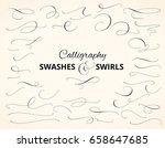 set of custom decorative... | Shutterstock .eps vector #658647685