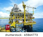 rigs offshore oil refinery | Shutterstock . vector #65864773