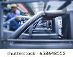 modern automatic automobile... | Shutterstock . vector #658648552