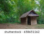 A Hut In Forest  Old Hut And...