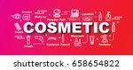 cosmetic vector trendy banner...   Shutterstock .eps vector #658654822