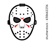 cartoon hockey mask cartoon... | Shutterstock .eps vector #658662256