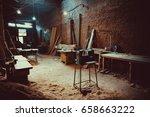 craft carpentry workshop. soft... | Shutterstock . vector #658663222