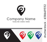 pin people service logo template | Shutterstock .eps vector #658669552