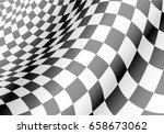 checkered flag waved design for ... | Shutterstock .eps vector #658673062