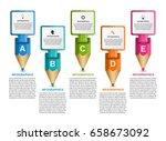 infographics template with... | Shutterstock .eps vector #658673092