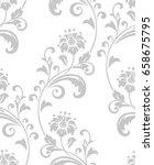 damask seamless floral pattern. ... | Shutterstock .eps vector #658675795