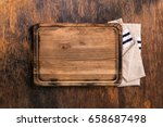 Old Cutting Board With Cloth...