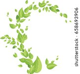 wave of green leaves  | Shutterstock .eps vector #658693906
