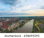 Pick from a variety of breath taking views capture by a drone. Aerial photos are taken from a variety of places and themes. Enjoy the aerial views!  Iowa City Iowa Aerial Photography