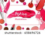 cosmetics and fashion... | Shutterstock .eps vector #658696726