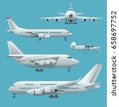 aircraft  airplane  airliner... | Shutterstock .eps vector #658697752