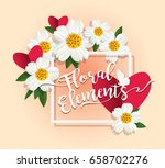 floral elements and background... | Shutterstock .eps vector #658702276