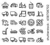 truck icons set. set of 25... | Shutterstock .eps vector #658708702