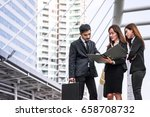 group of business people... | Shutterstock . vector #658708732