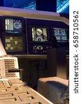 control mechanism in the cabin... | Shutterstock . vector #658710562