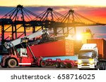 industrial logistics and... | Shutterstock . vector #658716025
