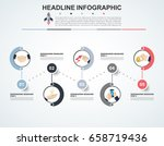 abstract infographics number... | Shutterstock .eps vector #658719436