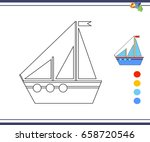 coloring pages for children ... | Shutterstock .eps vector #658720546