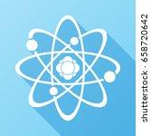 atom icon. science sign. atom...   Shutterstock .eps vector #658720642