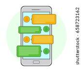 mobile phone. vector... | Shutterstock .eps vector #658723162