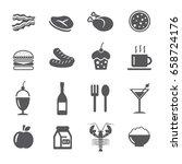 Food Icons Set.