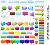 collection speech bubbles ... | Shutterstock .eps vector #65872462