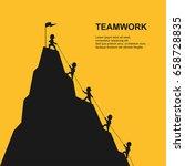 leader help their friend to...   Shutterstock .eps vector #658728835