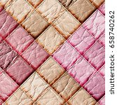 leather patchwork background 3d ... | Shutterstock . vector #658740262