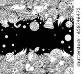 pattern for coloring book for... | Shutterstock .eps vector #658746472