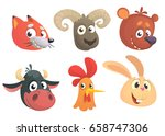 set of cartoon forest animals... | Shutterstock .eps vector #658747306