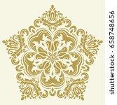 oriental vector golden pattern...   Shutterstock .eps vector #658748656