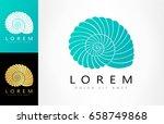 shell logo. mollusk vector | Shutterstock .eps vector #658749868