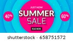 summer sale banner design.... | Shutterstock .eps vector #658751572