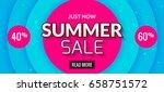 summer sale banner design.... | Shutterstock .eps vector #658751572