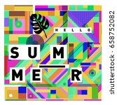 trendy vector holiday summer... | Shutterstock .eps vector #658752082