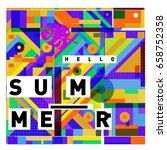 trendy vector holiday summer... | Shutterstock .eps vector #658752358