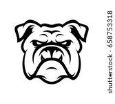 bulldog wild animal head mascot ...   Shutterstock .eps vector #658753318
