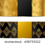 banners with gold elements | Shutterstock . vector #658755322
