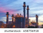 gas turbine electrical power... | Shutterstock . vector #658756918