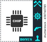 chip icon flat. simple vector...   Shutterstock .eps vector #658760785