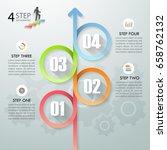 design infographic template 4... | Shutterstock .eps vector #658762132