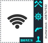 wifi icon flat. simple vector...