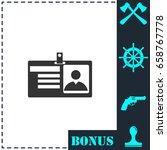 identification card icon flat....