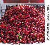 new harvest of fresh ripe red... | Shutterstock . vector #658767868
